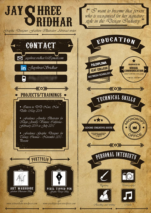 Artist Graphic Designer Creative Cv Best Resume Examples