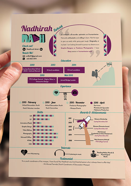 creative infographic resume design - Resume 2017