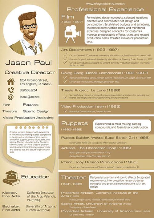 creative-infographic-resume-template-design