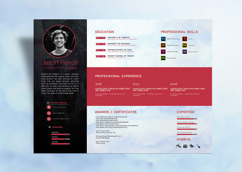 Creative Personal Resume Template Design For Designers  Resume For Designers
