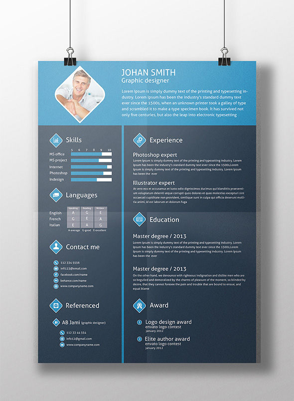 free-3-color-flat-resume-template-cover-letter-for-graphic-designers-2