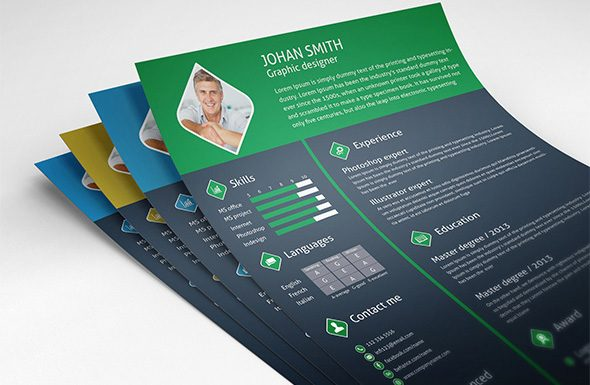 free-3-color-flat-resume-template-cover-letter-for-graphic-designers-preview