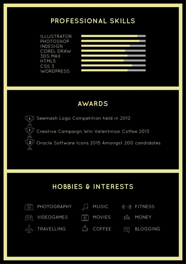 free-black-elegant-resume-cv-design-template