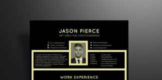 free-black-professional-resume-template
