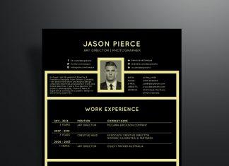 free-black-professional-resume-template