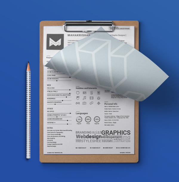 free clean  u0026 minimal resume template for graphic  u0026 web designers ai file