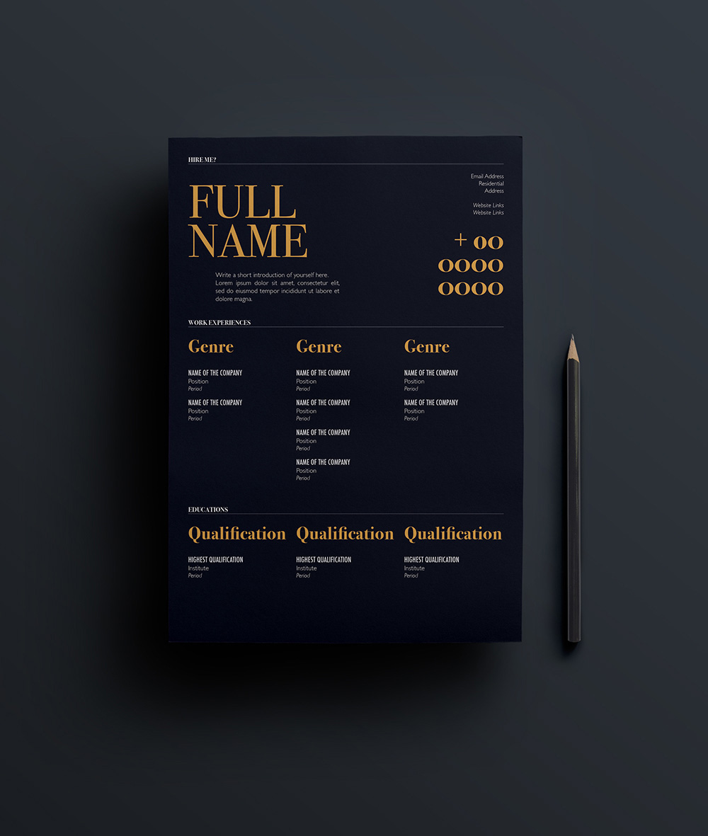 Free Elegant Resume Template For Designers Marketing Hr  IT