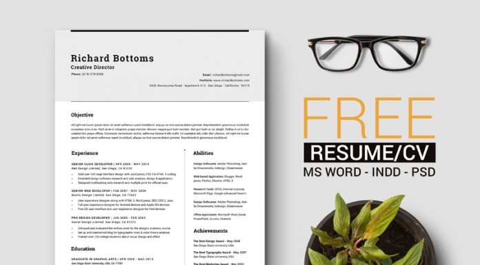 free-simple-resume-template-with-cover-letter-for-creative-director