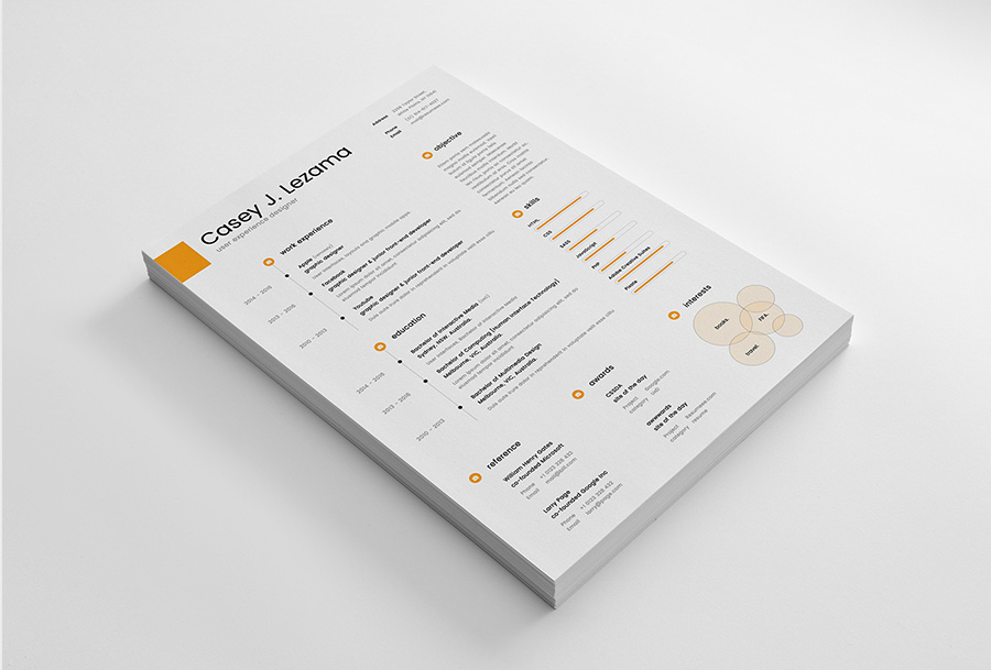 free simple yet elegant resume template for graphic designer  u0026 front end developer
