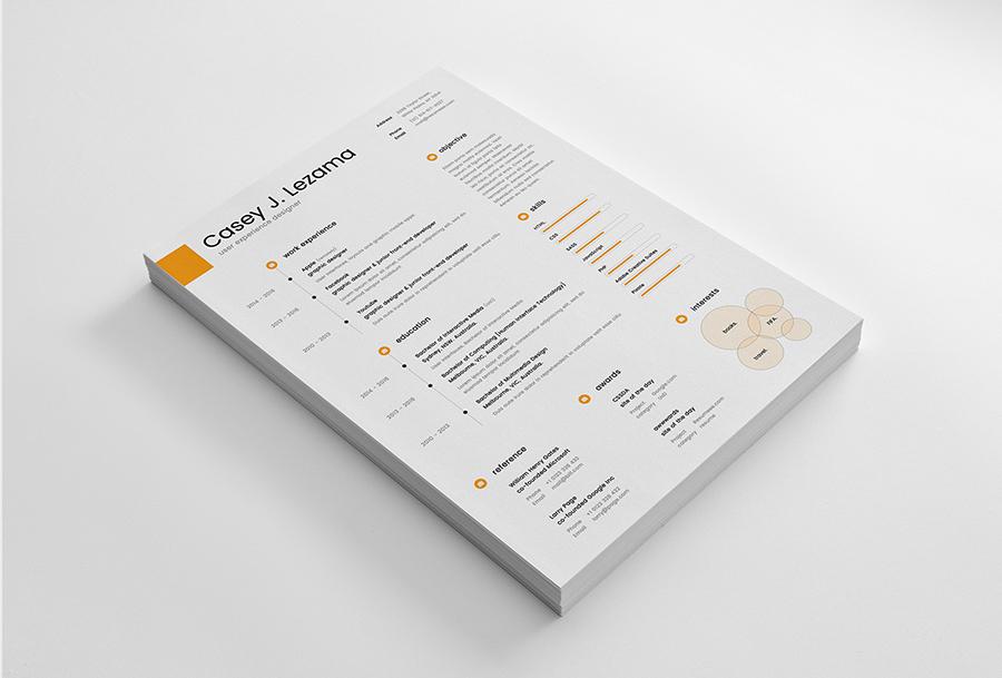 free simple yet elegant resume template for graphic designer  u0026 front end developer