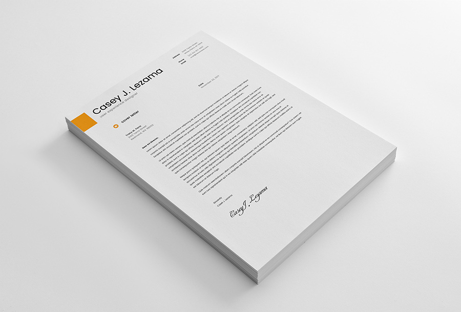 Free Simple Yet Elegant Resume Template For Graphic