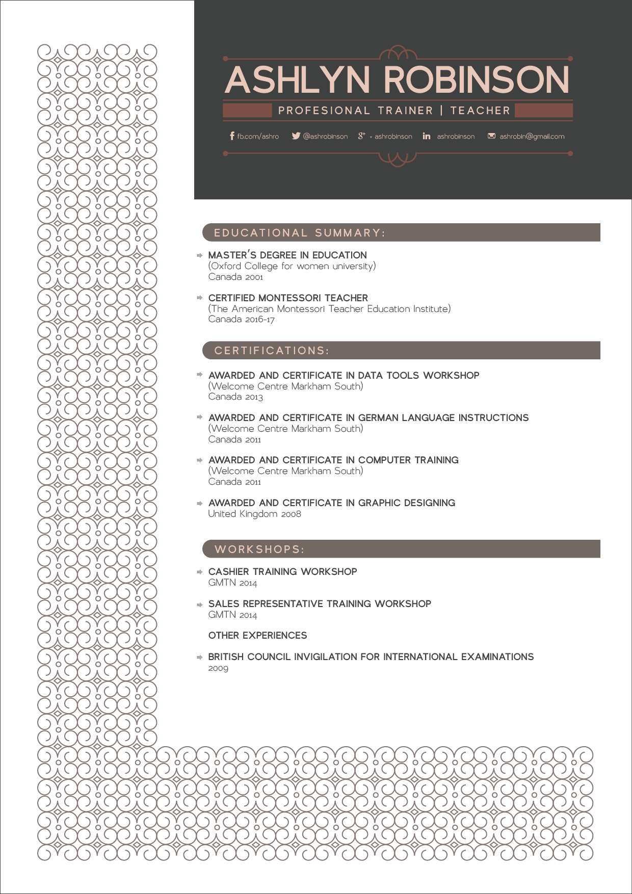... Premium Professional Resume Template For Females 01