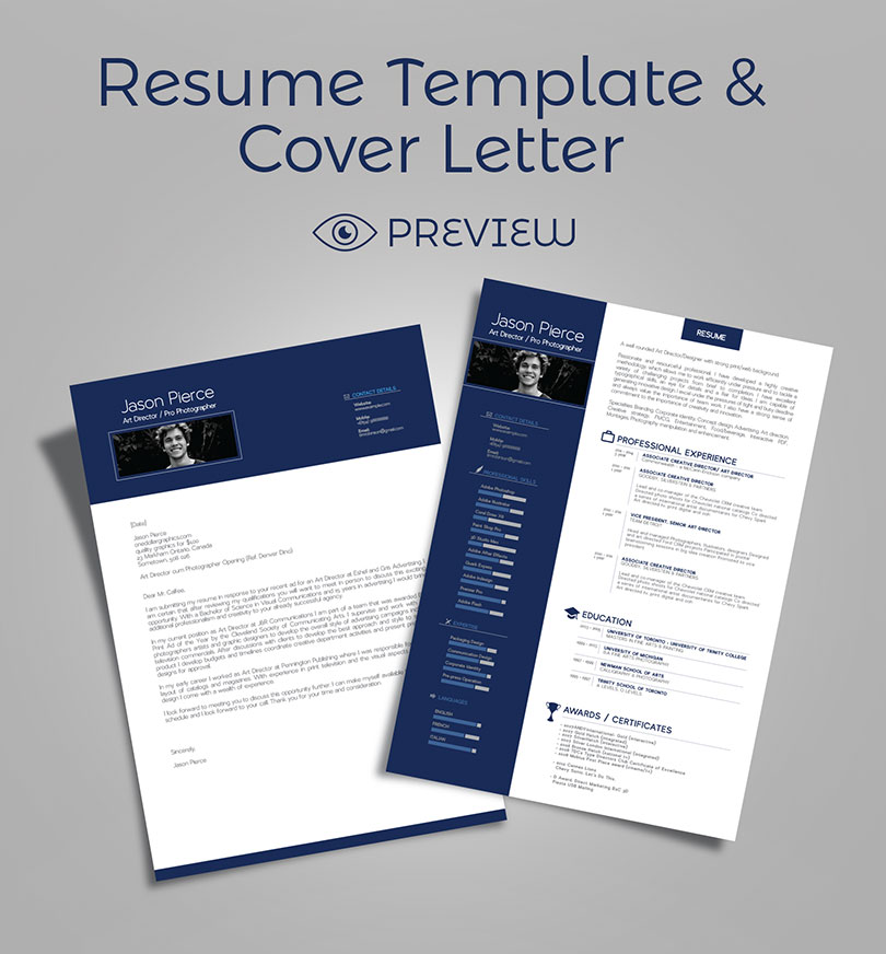 Simple Premium Resume (CV) Design, Cover Letter Template