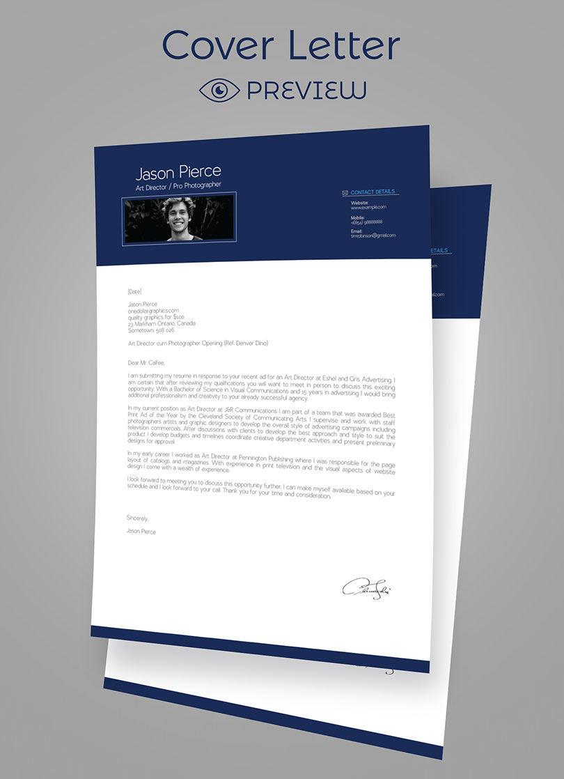 simple premium resume  cv  design  cover letter template  4 psd mock