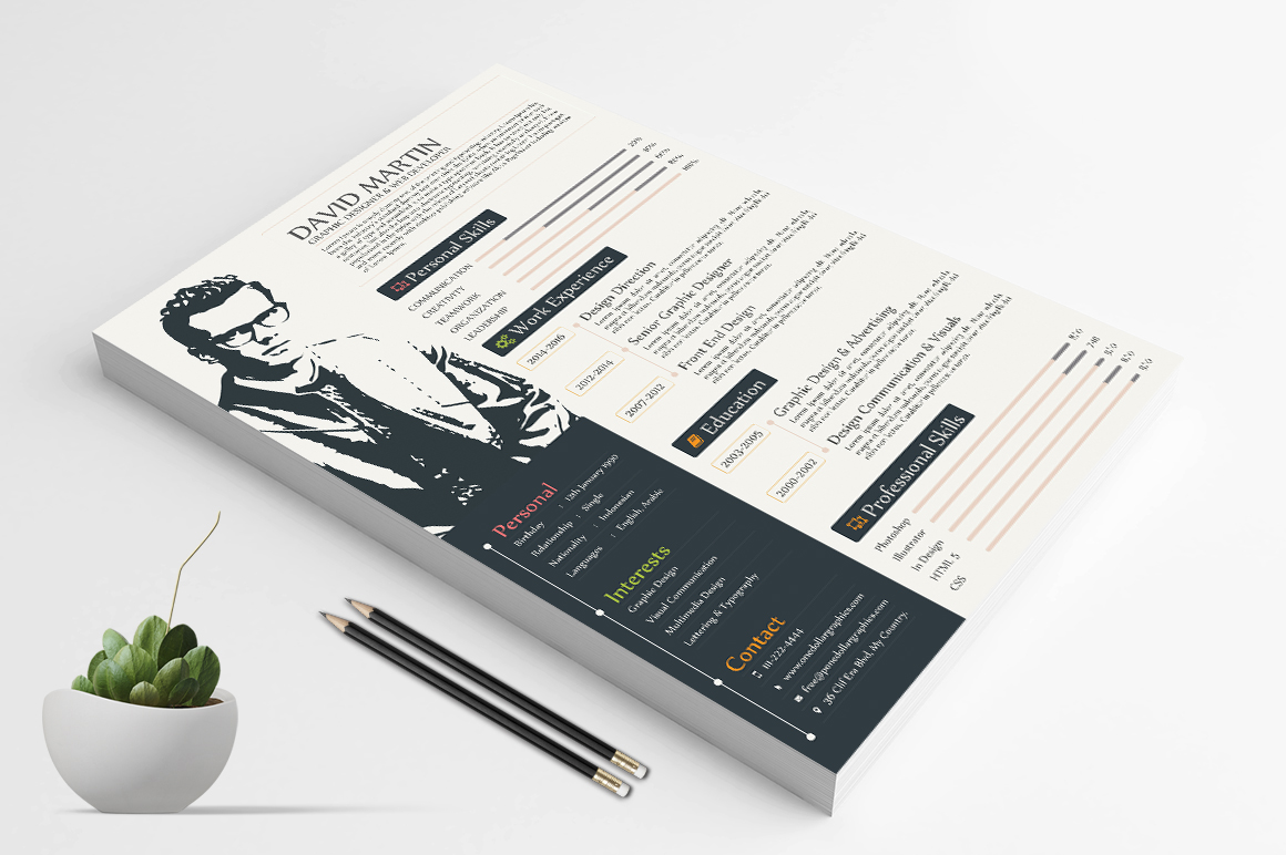 Simple Yet Professional Resume (CV) Design Templates In Ai, EPS, PSD ...