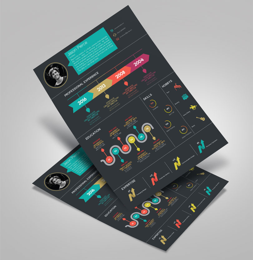 Creative-Infographic-Resume-design-Template-with-Cover-Letter-2
