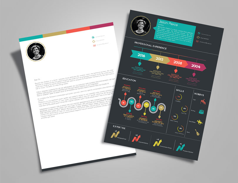 Creative-Infographic-Resume-design-Template-with-Cover-Letter-3