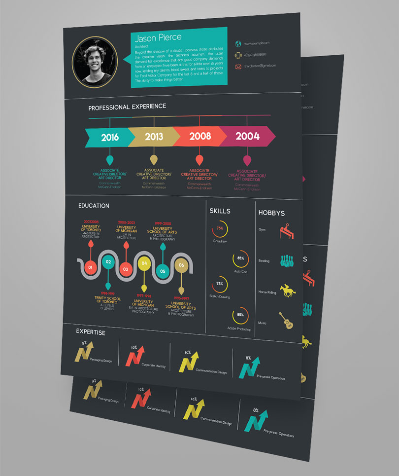 Creative Infographic Resume Design