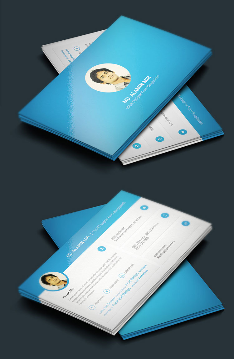 Free Business Card Template PSD File  Resume Business Cards