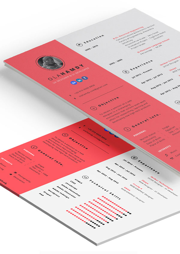 Free-Clean-Simple-Resume-Template-For-Graphic-Designer