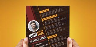 Free Creative Resume Design Template For Graphic Designer PSD File (1)