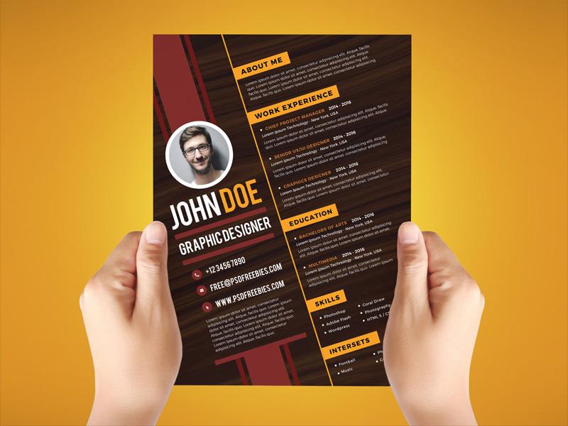 Free Creative Resume Design Template For Graphic Designer ...