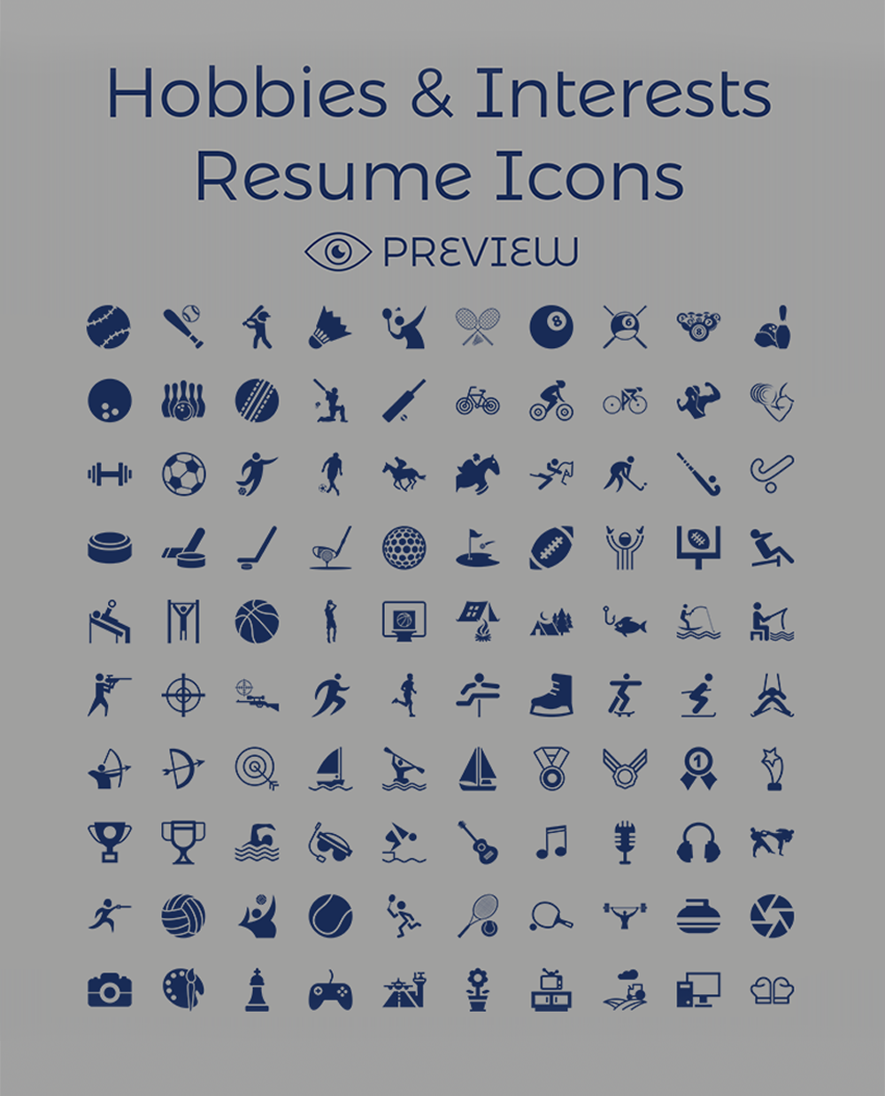 Creative Resume (CV) Design, Cover Letter Template, 4 PSD Mock-Ups & 100 Resume Icons (5)