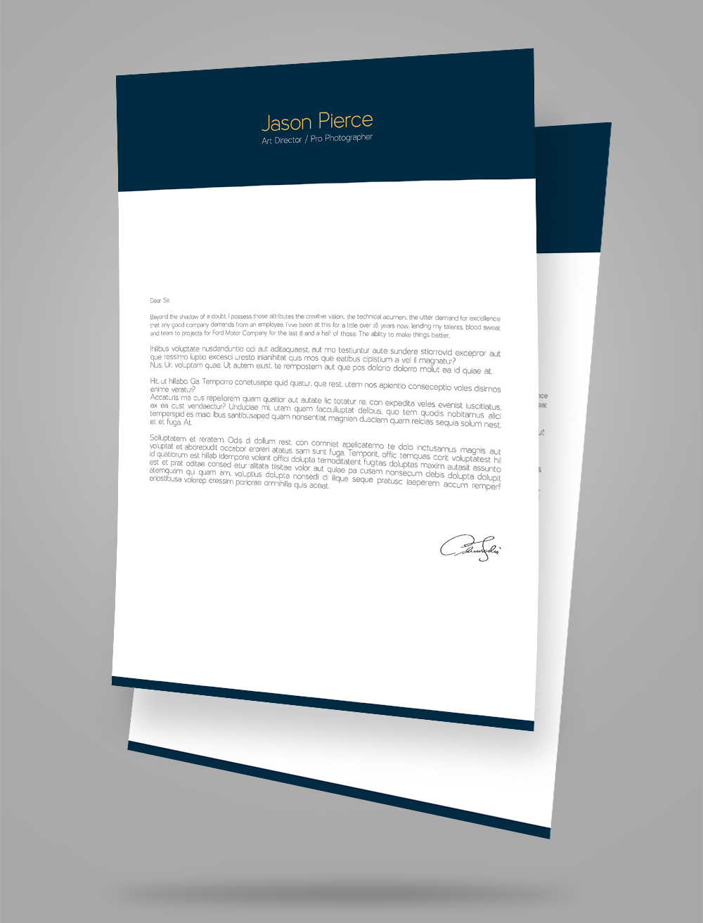 creative resume  cv  design  cover letter template  4 psd