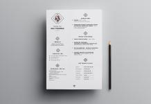 Free Clean Resume (CV) Design Template PSD File (1)
