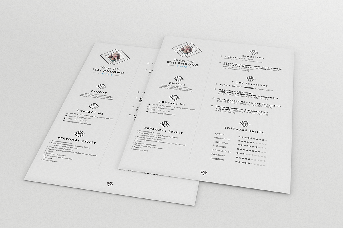 Free Clean Resume (CV) Design Template PSD File (3)