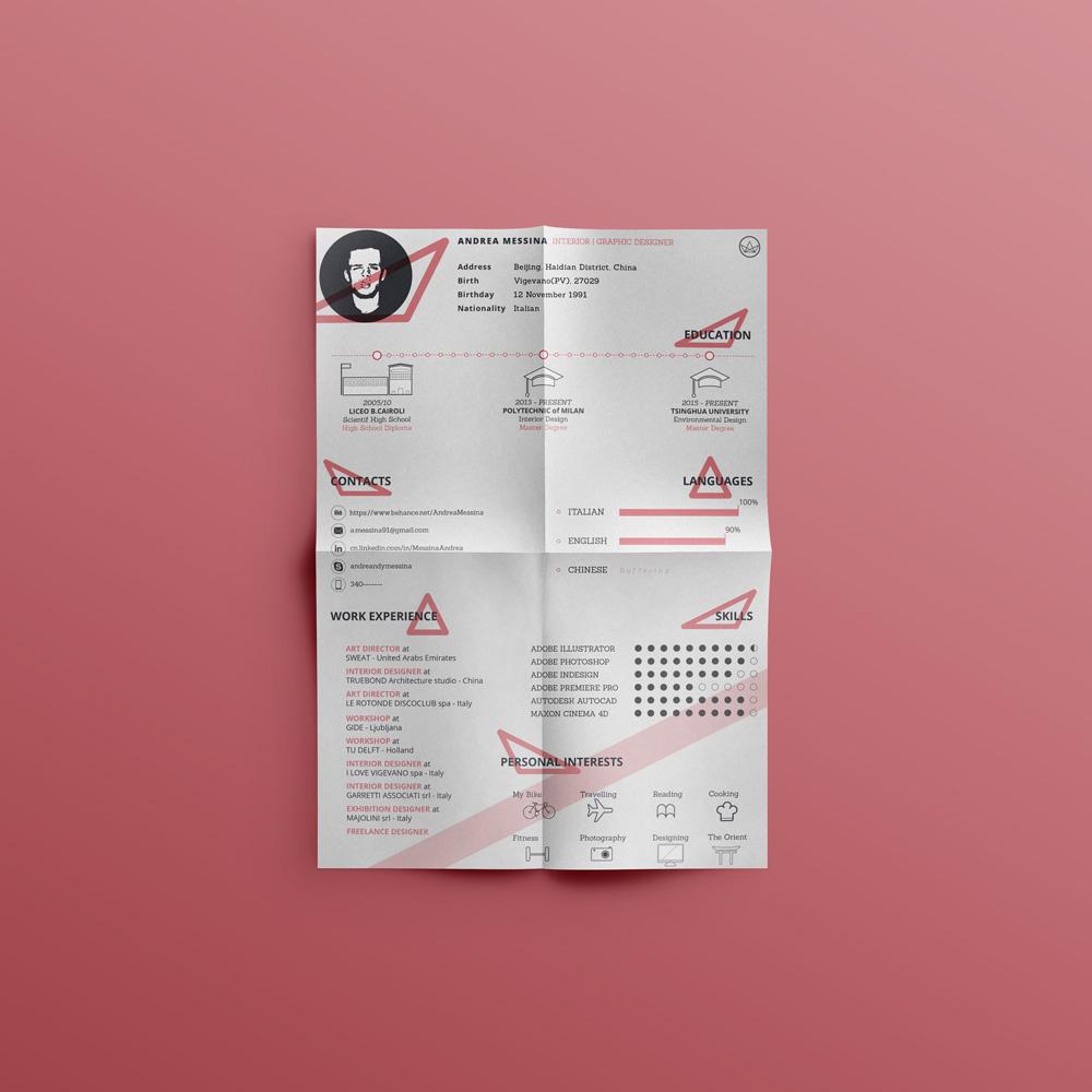 Free Creative Resume Cv Design Template Ai File Good Resume