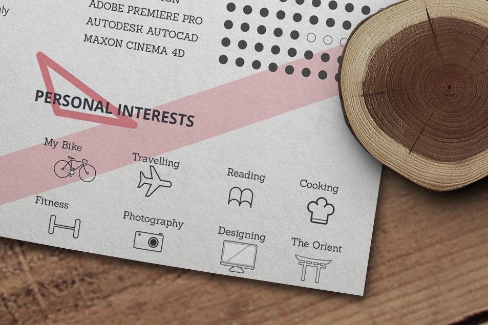 Free Creative Resume (CV) Design Template Ai File (4)