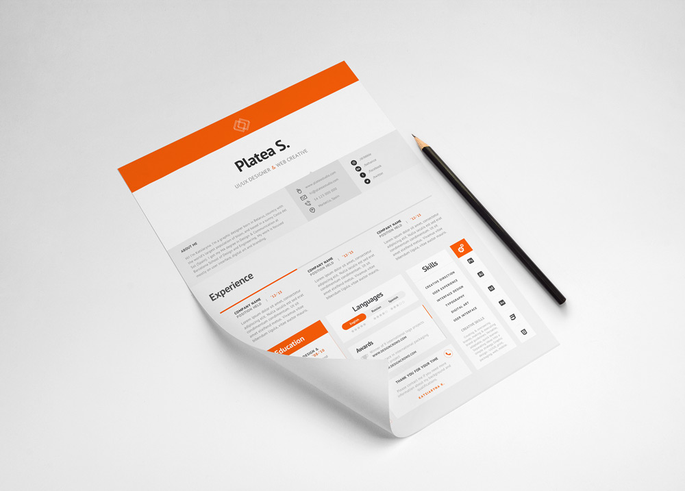 Free-Good-Resume-For-Good-Job-2 Template Cover Letter Free Color Flat Resume For Graphic Designers Bpmxya on