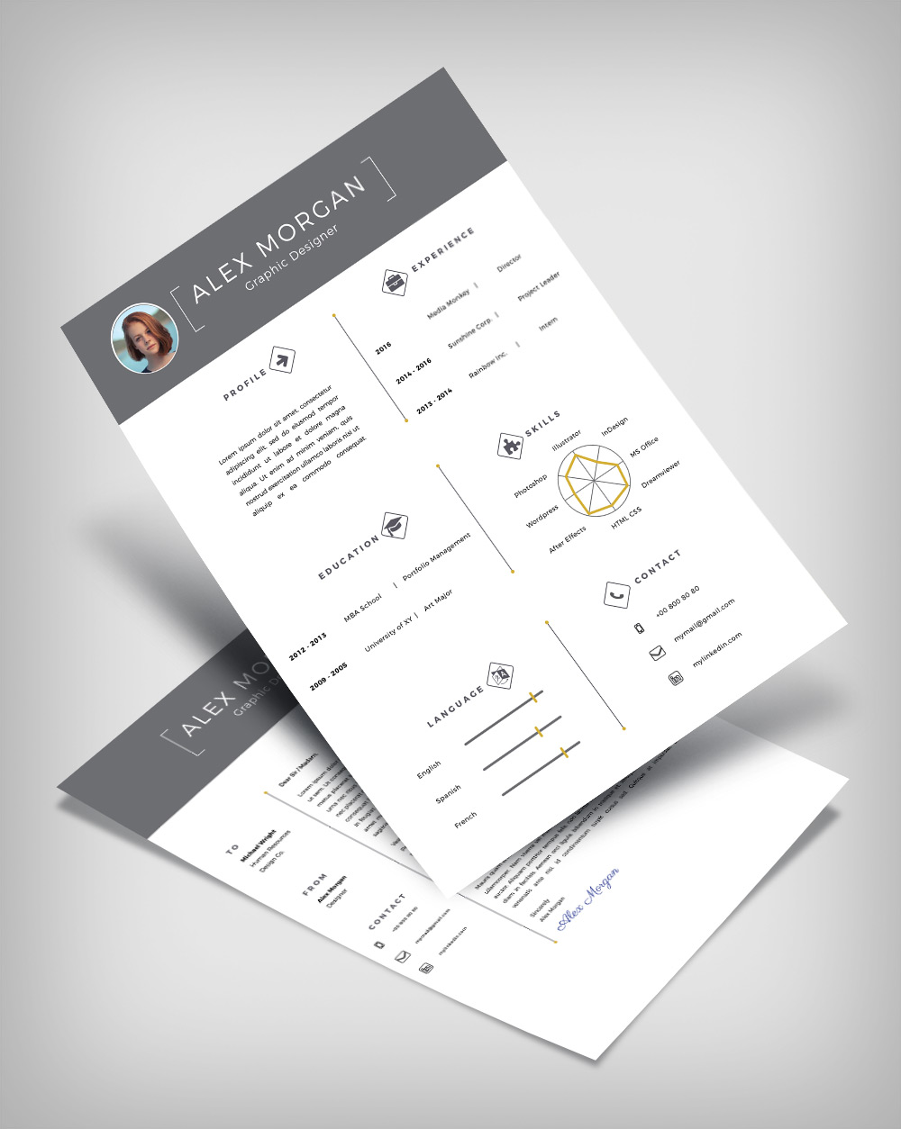 Free Minimalist Resume Template  Cover Letter Ai File  Good Resume