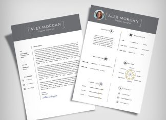 Free Minimalist Resume Template & Cover Letter Ai File (9)