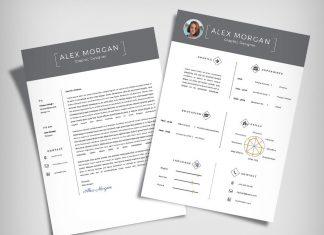 Free Minimalist Resume Template & Cover Letter Ai File (9)