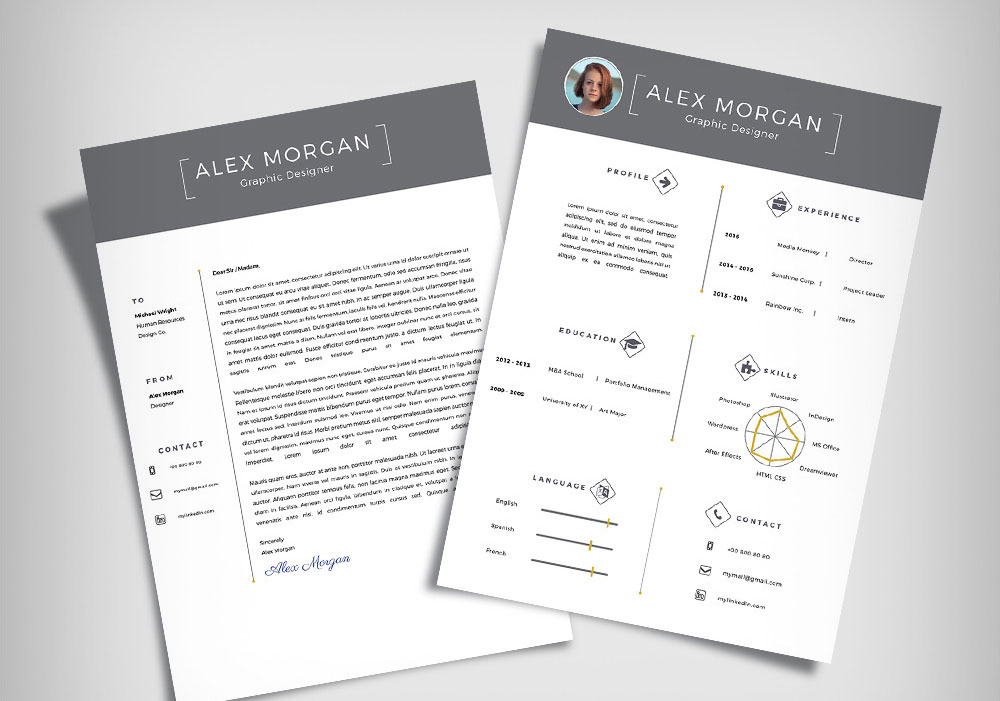 free minimalist resume template  u0026 cover letter ai file