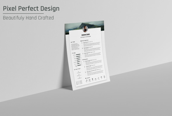 free resume cv design template  u0026 cover letter in doc  psd