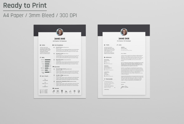 ... Free Resume CV Design Template U0026 Cover Letter In DOC, PSD, ...