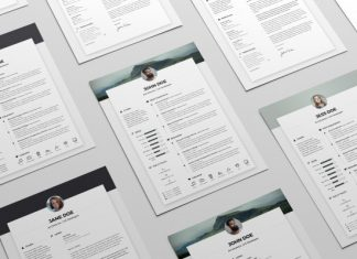 free clean resume cv cover letter template in word psd ai
