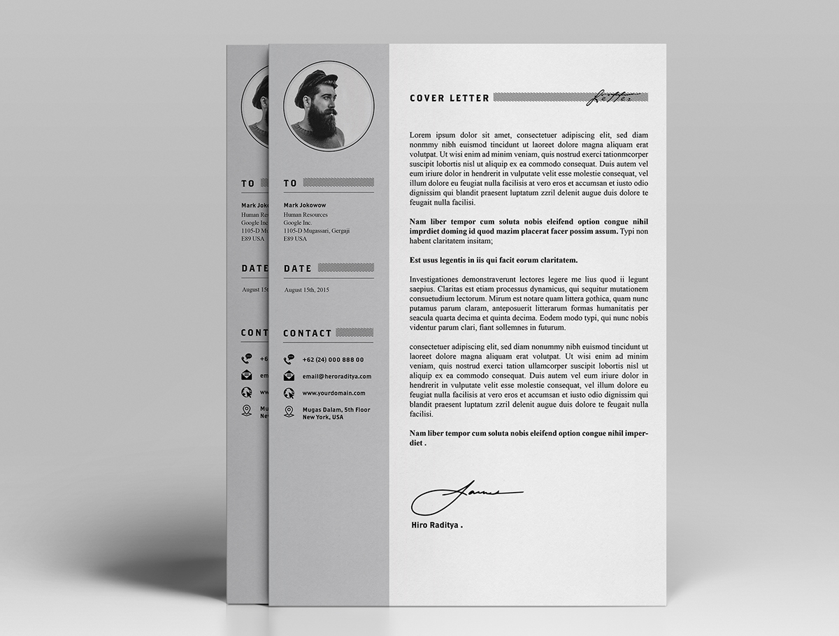 resume cv design template cover letter portfolio in cover letter in psd ai resume cv design template