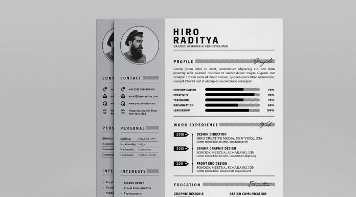 Free Resume (CV) Design Template With Cover Letter & Portfolio In PSD & Ai (2)