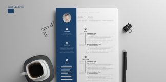 Free Resume Design Template With Cover Letter in PSD, AI & DOC (6)