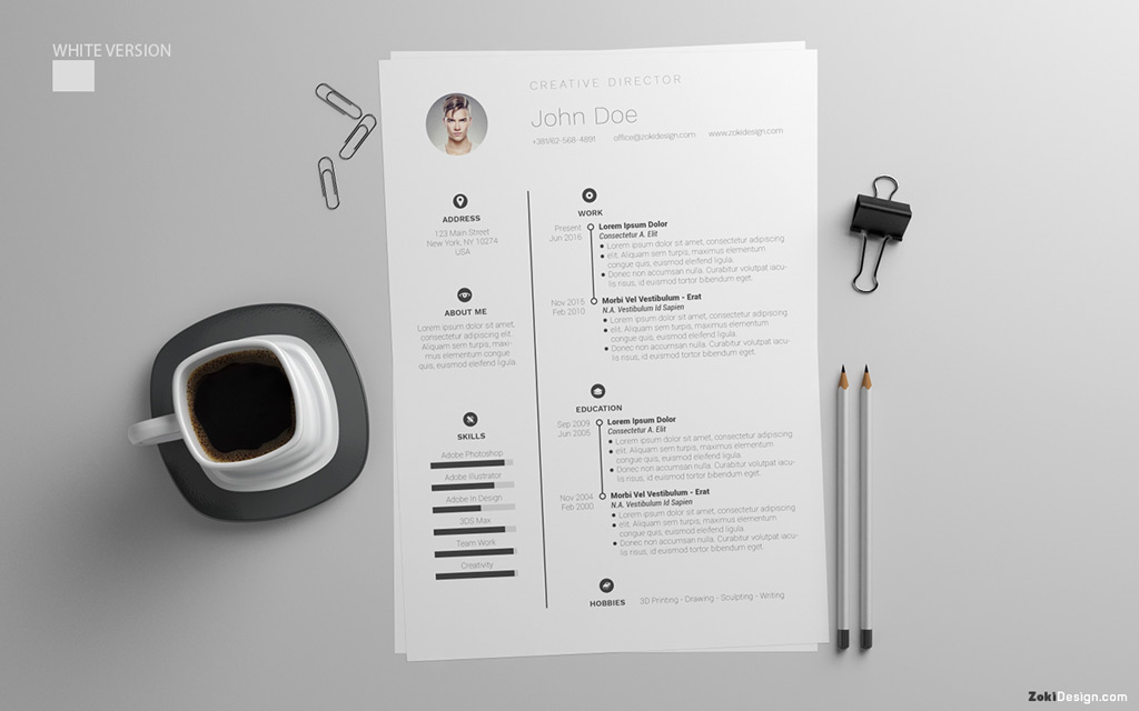 Free Resume Design Template With Cover Letter in PSD, AI & DOC (8)