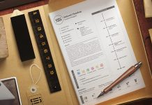 Free Simple Professional Resume (CV) Template Design Ai file (6)