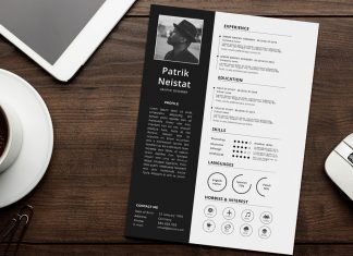 Simple Resume (CV) Design Template Free PSD File (3)