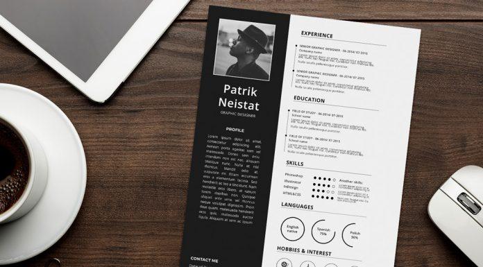 Simple Resume (CV) Design Template Free PSD File (3)
