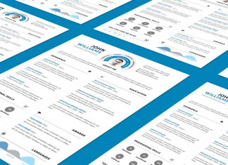 Clean and Professional Resume (CV) Design Template PSD File (1)