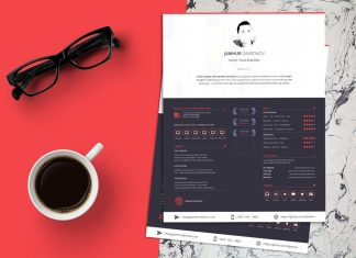 Free Beautiful Sketch Resume (CV) Design Template (3)