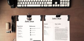 Free Black & White Minimalistic Resume (CV) Design With Cover Letter Ai File (1)
